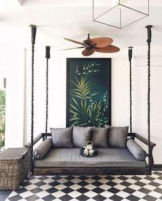 Beautiful hanging porch swing beds 00033 – Home Design Home Modern, Interior Modern, Luxury Interior Design, Modern Interiors, Modern Spaces, Interior Ideas, Hotel Decor, Home Design, Design Hotel