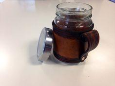 Taza de cuero reciclando bote de mermelada, Mason Mug