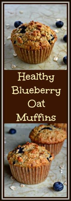 Blueberry Oat Muffins -simply THE BEST! Every flavorful bite is bursting with blueberries in this recipe for healthy blueberry oat muffins. Healthy Breakfast Muffins, Healthy Muffin Recipes, Healthy Baking, Breakfast Ideas, Breakfast Recipes, Healthy Blueberry Recipes, Healthy Oatmeal Muffins, Breakfast Cookies, Oatmeal Recipes