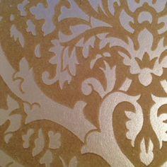 Honey Beige on Lustre Cream Art Deco Inspired Velvet Flock Damask Wallpaper NEW! Cream Art, Damask Wallpaper, Flocking, Luster, Honey, Art Deco, Home And Garden, Velvet, Beige