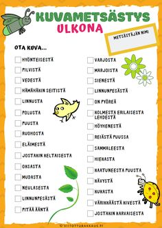 Kuvametsästys ulkona - Viitottu Rakkaus Yoga For Kids, Diy For Kids, Classroom Activities, Activities For Kids, Outdoor School, Primary Education, Early Childhood Education, Book Crafts, Teaching Art