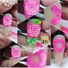 Best Nail Art Decorations To Choose 3d Nail Art, Jolie Nail Art, 3d Acrylic Nails, Nail Art Hacks, Pastel Nails, Fancy Nails, Diy Nails, Pretty Nails, Nail Art Fleur