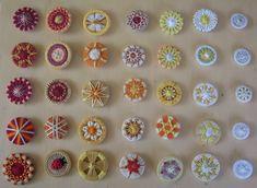 """Meine Brieffreundin Gerda aus der Schweiz, machte diese wunderschönen """"Zwirnis"""""""