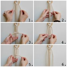 How to make your own hanging macrame planter. DIY tutorial by House Sparrow Fine Nesting. How to macrame plant hanger.