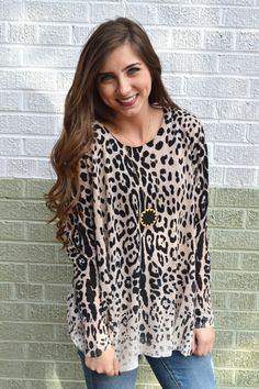 Lounging in Leopard Sweater from Shop Southern Roots TX