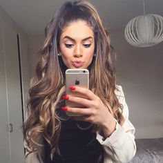 Ombre Hair Color for Black Women Curly Hair Styles, Natural Hair Styles, Great Hair, Big Hair, Hair Dos, Pretty Hairstyles, Half Pony Hairstyles, Hairstyle Ideas, Ombre Hair