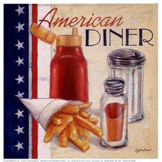 American Diner by Bjorn Baar art print