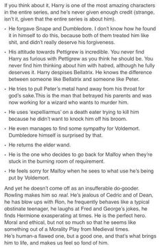 This makes my heart so full. Harry Potter is a hero.