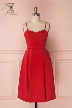 Ellyne Red from Boutique 1861 Lovely Dresses, Simple Dresses, Vintage Dresses, Casual Dresses, Short Dresses, Formal Dresses, 1950s Dresses, Vintage Clothing, Dusty Pink Bridesmaid Dresses