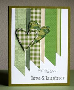 Mary Soucek Bertrand posted Guy card with hearts to her -cards- postboard via the Juxtapost bookmarklet. St Patricks Day Cards, Washi Tape Cards, Paper Cards, Ribbon Cards, Love Cards, Valentine Day Cards, Card Tags, Creative Cards, Anniversary Cards