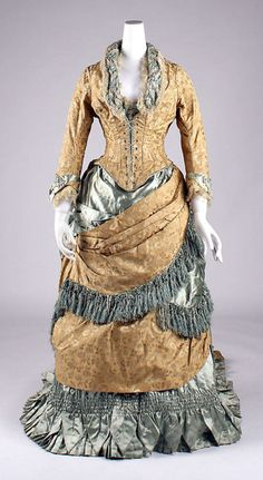 Evening dress, 1880 US, the Met Museum