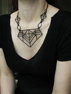 Geometric Necklace Pharaoh Revival Necklace by jamiespinello