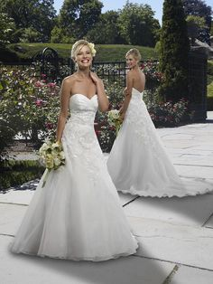 Organza Strapless Sweetheart Neckline With Slim A Line Skirt Fashion Custom Made Zipper Bridal Wedding Gowns