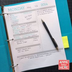 Printable 2014 Daily Planner for Creative Work or by AnneWasHere, $5.00