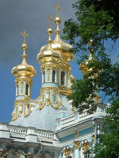 Royal residence of Empress Catherine in Pushkin