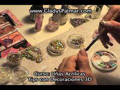 Curso Uñas Acrílicas Tips 3D Decoraciones