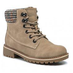 Outdoorová obuv JENNY FAIRY - WSN722-45 Beige - Outdoorové topánky - Čižmy a iné - Dámske | eobuv.sk Textiles, Timberland Boots, Hiking Boots, Fairy, Shoes, Products, Fashion, Beige, Leather
