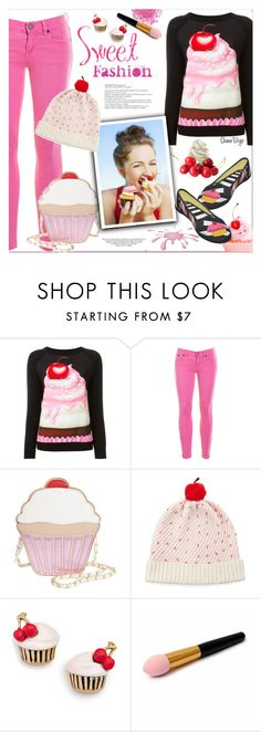 """""""Sweet Stuff"""" by queenvirgo ❤ liked on Polyvore featuring Boutique Moschino, J.Crew, Nila Anthony and Kate Spade"""