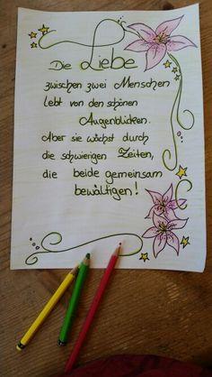 Ein wahrer Spruch! Für das Gästebuch oder Glückwunschkarte ( Doris Weber ) …