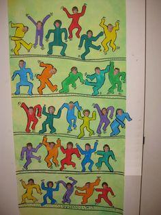 Welcome to GS / CP! – Nursery and primary school Notre Dame des Fontaines -… - Grundschule Classe D'art, Keith Haring Art, Kindergarten Lesson Plans, Ecole Art, High School Art, Collaborative Art, Preschool Art, Art Classroom, Art Club