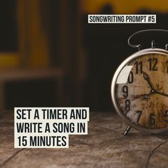 Starting and finishing a song while my clothes are in the wash / songwriting prompt