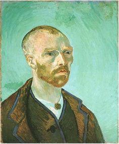 Van Gogh- september, 1888 Fogg  Art Museum, Harvard University. Massachusetts USA.                                                     Van Gogh-self portrait (dedicated to Paul Gauguin).