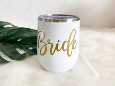 Bride Gift Bride Wine Tumbler Gift for Bride Bride to be image 0 Wedding Gifts For Groomsmen, Groomsman Gifts, Perfect Bride, Wedding Shower Gifts, Wine Tumblers, Bride Gifts, Bridesmaid, Invitations, Etsy