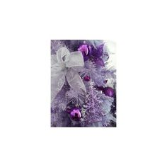 Purple christmas ❤ liked on Polyvore featuring home, home decor, holiday decorations, purple home decor, purple home accessories, christmas holiday decor, christmas home decor and christmas holiday decorations