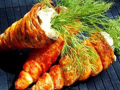 Morcovi din foietaj umpluţi cu salată de ouă - simonacallas Carrots, Cooking Recipes, Vegetables, Fine Dining, Salads, Chef Recipes, Carrot, Vegetable Recipes