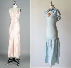 1930S Vintage Dresses | It Vintage: 1930s Pink Silk Satin Dress , $415 / 1930s Bias Cut Dress ...