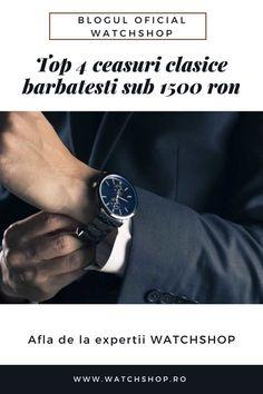 Exista ceasuri barbatesti clasice, de foarte buna calitate, sofisticate, de la branduri cunoscute, fara a cheltui o suma uriasa. Afla care sunt acestea, de pe blogul WatchShop! Hugo Boss, Smart Watch, Cool Stuff, Blog, Fashion, Smartwatch, Cool Things, Moda, La Mode