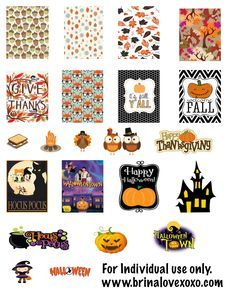 Free Fall Planner Stickers