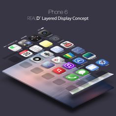 theres also a reald layered display concept Apple iPhone 6 Rumors   An Edgy Design Concept  #Apple #iphone #iphone6 #design #illustration #conceptDesign