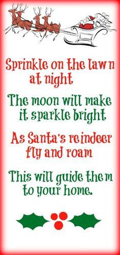 Magic Reindeer food with FREE Poem Printable-Love, Play, Learn