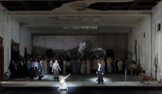 Lucia di Lammermoor-Munchen 2015  Conductor Kirill Petrenko   Director Barbara Wysocka  Set: Barbara Hanicka Costumes Julia Kornacka  Lighting Rainer Casper