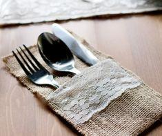 ideas para decorar tu mesa con arpillera