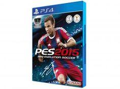 PES 2015 - Pro Evolution Soccer 2015 para PS4 - Konam de R$ 199,90 por R$ 89,90  em até 4x de R$ 22,48 sem juros no cartão de crédito
