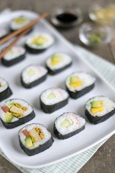 3x Sushi! Zonder rauwe vis of vlees   via Brendakookt.nl, zwangerproof