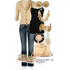 Gold Accents, created by mariah-karm