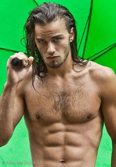 Men with blue eyes / nice eyes, innit?~~~^_^~~~ His umbrella is a type,,,,,,,