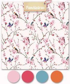 birds and sakuras