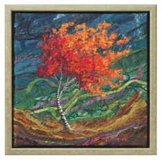 Spirit Trees - Breeze #1 - Lorraine Roy: Textile Art