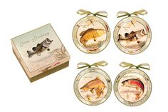 GONE FISHIN ~ FISHERMANS PARADISE ~ Decorative Mini Plate Set S/4 GORGEOUS  sc 1 st  Pinterest & Snowman Family ~ Snowman Gifts Mini Plates Set ~ Set/4   Mini Plates ...