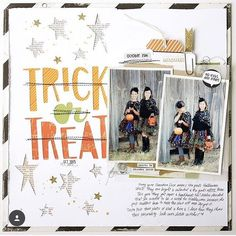 Throw back to last Halloween - what a cute witch! I created a large set of Spooky cut files for this layout and you can still find them in my shop (direct link in profile)! Hope you have a haunted day.
