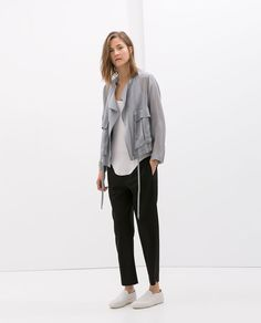 Image 1 of UNSTRUCTURED JACKET WITH POCKETS from Zara