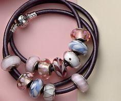 Soft pastel murano charm bracelet #PANDORA