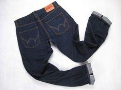 Edwin SEN 50504 Indigo Rinse Selvedge Jeans Size 34 x 34.