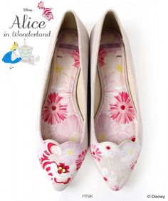 Flat pumps RANDA Disney Alice in Wonderland Low Pointy Toe Slip-on Floral  #RANDA #Flatpumps