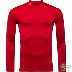 Under Armour - ColdGear Evo Compression Mock L/E Rød Under Armour Coldgear, Sport, Evo, High Neck Dress, Sweaters, Dresses, Fashion, Turtleneck Dress, Gowns