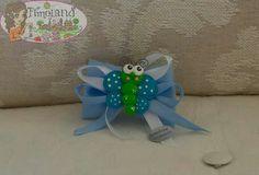Calamita farfalla realizzata a mano in fimo come bomboniera. By fimoland.it